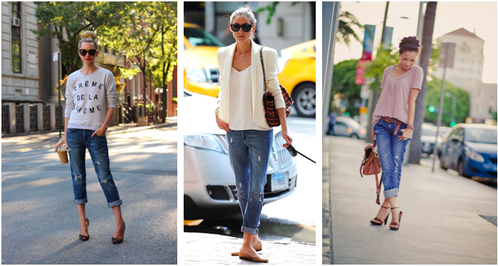 bloggers & boyfriend jeans